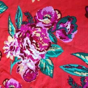 NWT Xhiliration Floral Print Elastic Waist Maxi Sk